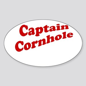 Captain Cornhole Sticker (Oval)