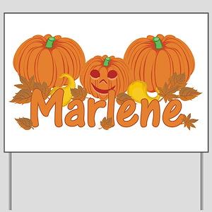 Halloween Pumpkin Marlene Yard Sign