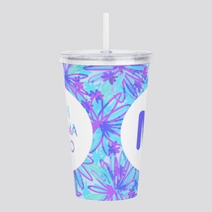 Phi Sigma Rho Floral Acrylic Double-Wall Tumbler