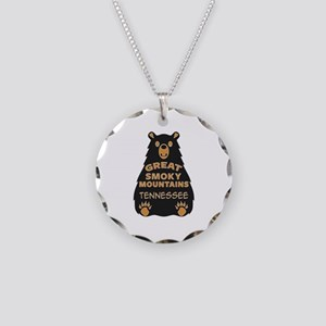 Great Smoky Mountains Nation Necklace Circle Charm