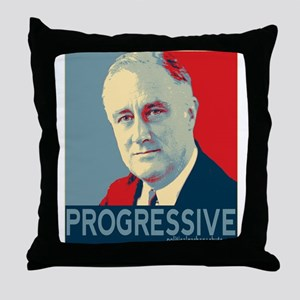 "FDR - ""PROGRESSIVE"" Throw Pillow"