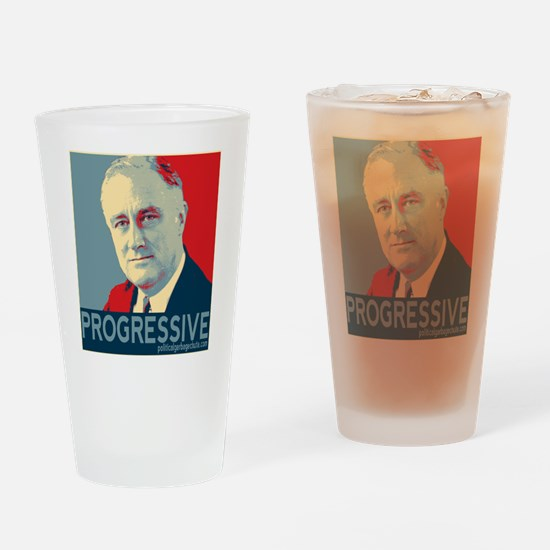 "FDR - ""PROGRESSIVE"" Drinking Glass"