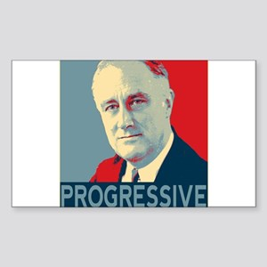 "FDR - ""PROGRESSIVE"" Sticker (Rectangle)"