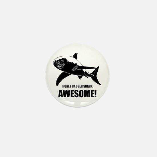 Honey Badger Shark Mini Button
