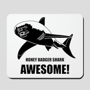 Honey Badger Shark Mousepad