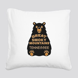Great Smoky Mountains Nationa Square Canvas Pillow