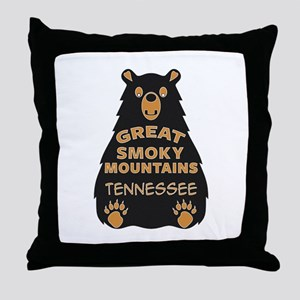 Great Smoky Mountains National Park T Throw Pillow