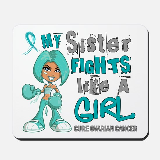Fights Like a Girl 42.9 Ovarian Cancer Mousepad