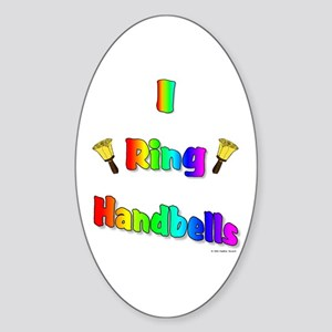 I Ring Handbells Oval Sticker