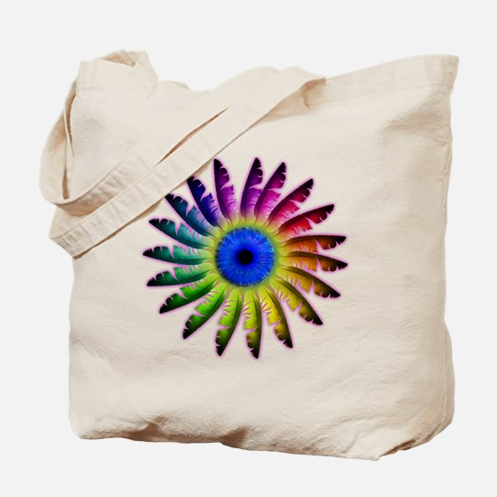 Angel Feathers Flower Tote Bag