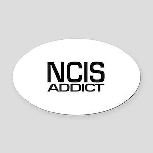 NCIS addict Oval Car Magnet