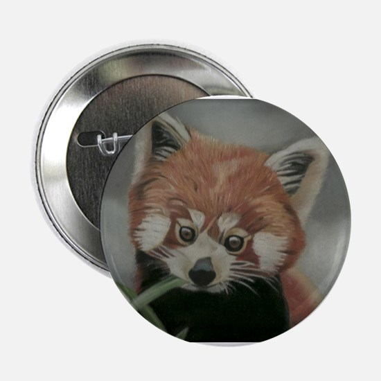 "Red Panda - Painting Done in Pastels 2.25"" Button"