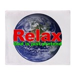Relax Earth Throw Blanket