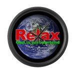 Relax Earth Large Wall Clock