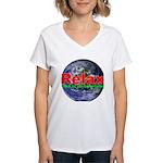Relax Earth Women's V-Neck T-Shirt