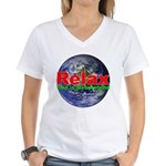 Relax Earth Women's V-Neck T-Shirt