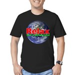 Relax Earth Men's Fitted T-Shirt (dark)
