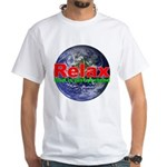 Relax Earth White T-Shirt