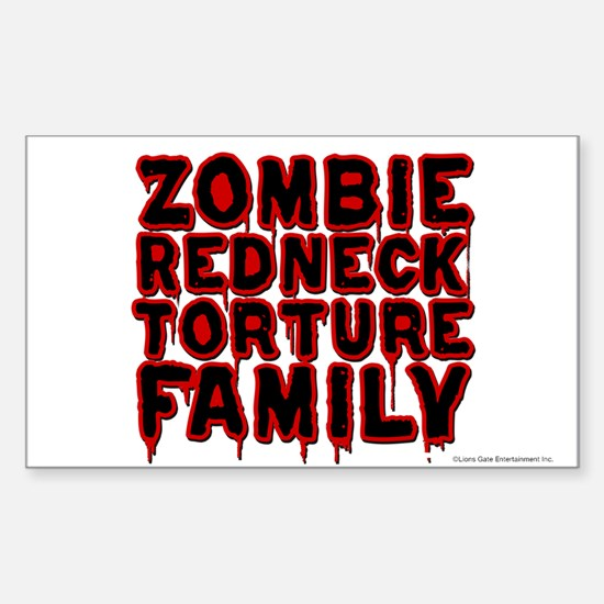 Zombie Redneck Torture Family Blood Decal