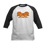 Halloween Pumpkin Nicole Kids Baseball Jersey