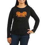 Halloween Pumpkin Nicole Women's Long Sleeve Dark