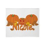 Halloween Pumpkin Nicole Throw Blanket
