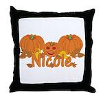 Halloween Pumpkin Nicole Throw Pillow