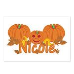 Halloween Pumpkin Nicole Postcards (Package of 8)