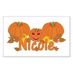 Halloween Pumpkin Nicole Sticker (Rectangle)