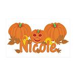 Halloween Pumpkin Nicole 35x21 Wall Decal