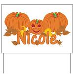 Halloween Pumpkin Nicole Yard Sign