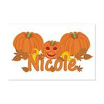 Halloween Pumpkin Nicole Mini Poster Print