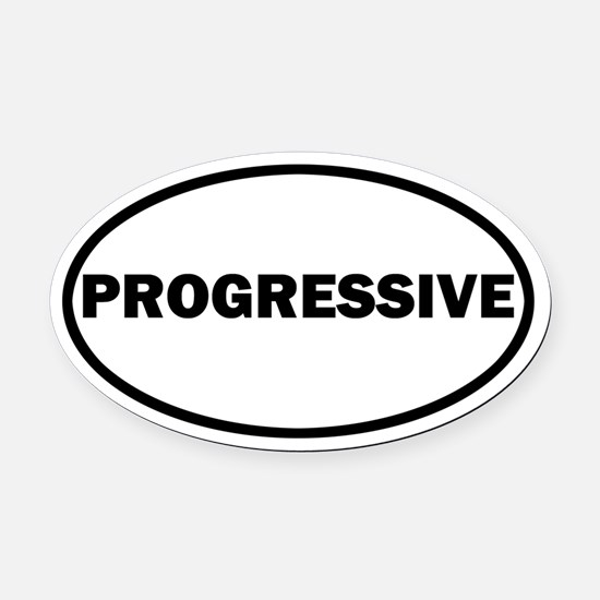 PROGRESSIVE Oval Car Magnet