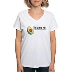 Avocado: Good Fat Women's V-Neck T-Shirt