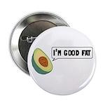 """Avocado: Good Fat 2.25"""" Button"""