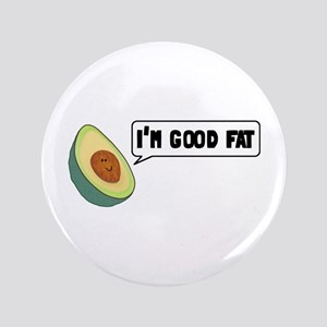 """Avocado: Good Fat 3.5"""" Button"""