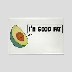 Avocado: Good Fat Rectangle Magnet