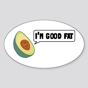 Avocado: Good Fat Sticker (Oval)