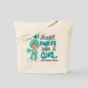 Fights Like a Girl 42.9 Ovarian Cancer Tote Bag