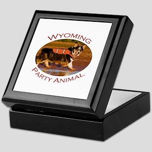 Wyoming Party Animal Keepsake Box