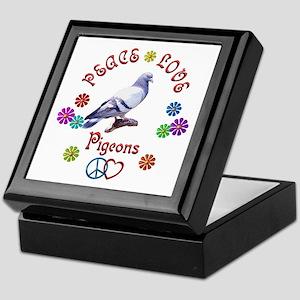 Peace Love PIGEONS Keepsake Box