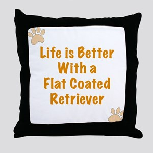 Life is better with a Flat Coated Retriever Throw