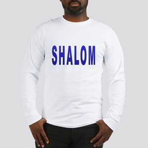 JEWISH SHALOM HEBREW Long Sleeve T-Shirt