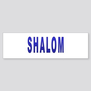 JEWISH SHALOM HEBREW Bumper Sticker
