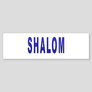 JEWISH SHALOM HEBREW Bumper Sticker