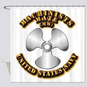 Navy - Rate - MM Shower Curtain