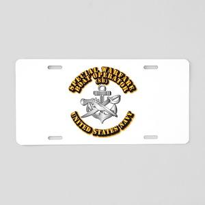 Navy - Rate - SB Aluminum License Plate