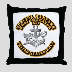 Navy - Rate - SB Throw Pillow