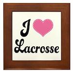 I Love Lacrosse Framed Tile