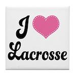 I Love Lacrosse Tile Coaster